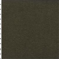 *1 3/4 YD PC--Brown Wool Blend Heathered Sweater Knit/Grid Fleece