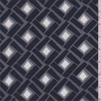 Slate/Black Diamond Tile Rayon Challis