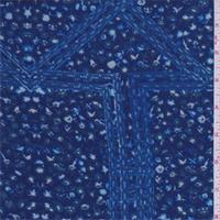 Ocean Blue Mini Floral Patchwork Rayon Challis