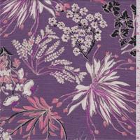 Dusty Purple Floral Rayon Challis