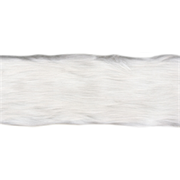 "*1 REEL--Fur Trim 4""X6yd-White"