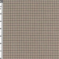 *2 YD PC--Camel Brown Houndstooth Plaid Polyester