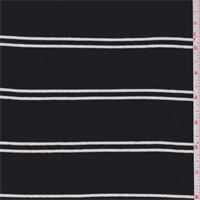 Black/White Double Stripe Jersey Knit