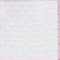 White Basketweave Jacquard Knit