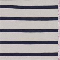 Metallic Gold/Navy Stripe Sweater Knit
