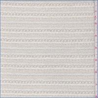 Ecru Pointelle Stripe Sweater Knit