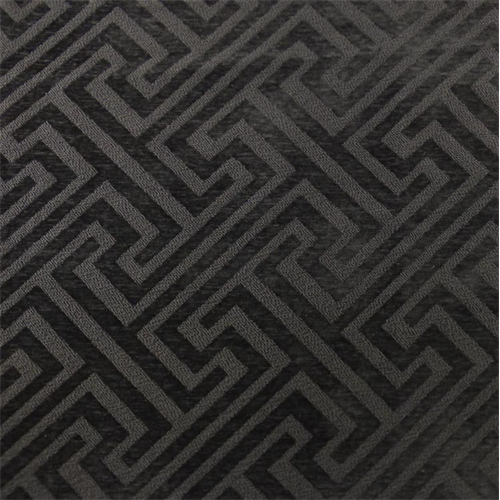Dark Gray Greek Key Chenille Boucle Home Decorating Fabric