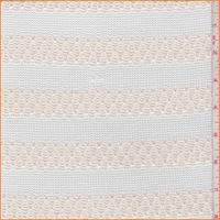 White/Ivory Pointelle Stripe Sweater Knit