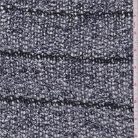 Navy/White Boucle Stripe Sweater Knit