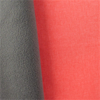 Soft Shell Fleece - Coral Pink/Gray