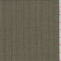 *4 1/4 YD PC--Olive Twill Stripe Poly Blend Suiting
