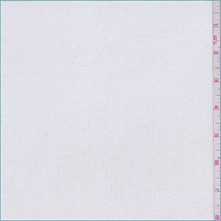 *3 3/4 YD PC--White Ribbed Knit