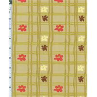 *1 3/4 YD PC--Green Nel Whatmore Eden Picnic Check Print Cotton