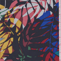 *3 1/2 YD PC--Dark Ink Multi Botanical Sweater Knit