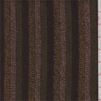 *3 3/8 YD PC--Mocha/Blush/Orange Stripe Wool Jacketing