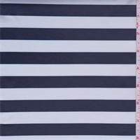 Navy/White Stripe Polyester Lining