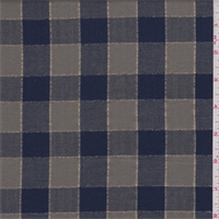 Olive/Navy Check Flannel Shirting