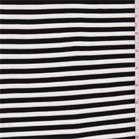 *3 3/4 YD PC--Black/White Stripe Double Knit