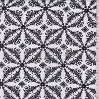 White/Black Pinwheel Leno Jacquard