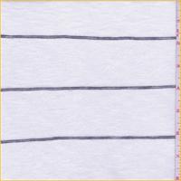White/Black Stripe Slubbed Sweater Knit