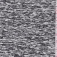 Black/White Static Heather Sweater Knit
