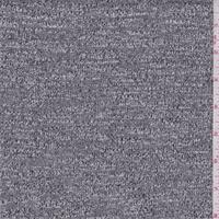 Dark Grey/White Slubbed Sweater Knit