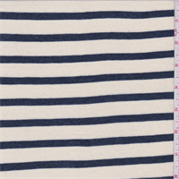 Ecru/Navy Stripe Jersey Knit