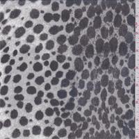Grey/Black Leopard Print Silk Chiffon