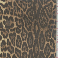 Brown/Beige Cheetah Print Silk Chiffon