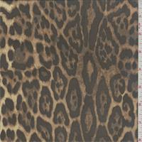 Brown/Beige Cheetah Print Silk Chiffon