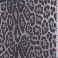 Taupe/Black Cheetah Print Silk Chiffon
