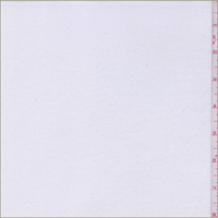 Off White Rayon Rib Knit