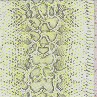 Lemongrass/Ivory Snakeskin Print Silk Chiffon