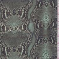 Opaline Green Snakeskin Print Silk Chiffon