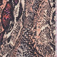 Sunrise Snakeskin Print Silk Chiffon
