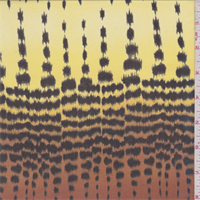 Yellow/Rust Animal Print Silk Chiffon