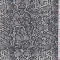 Taupe Snakeskin Print Silk Chiffon