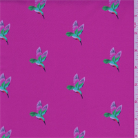 *2 YD PC--Hot Pink Hummingbird Activewear