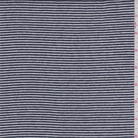 Black/White Pinstripe Sweater Knit