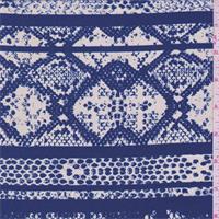 Royal Snakeskin Stripe Print Silk Crepe de Chine
