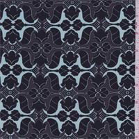 Brown/Black Stylized Print Silk Crepe de Chine