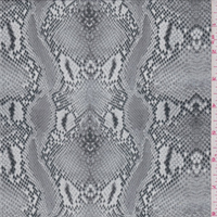 Pumice Snakeskin Print Crepe de Chine