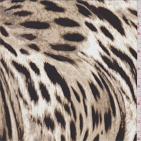 Beige Multi Animal Print Crepe de Chine
