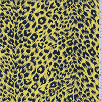 Sunfllower Yellow Mini Cheetah Print Crepe de Chine