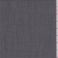 *1 1/4 YD PC--Soft Black Dotted Stripe Poly Blend Suiting