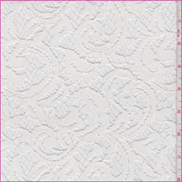Winter White Scroll Lace