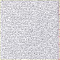 Bright White/Silver Crochet Lace