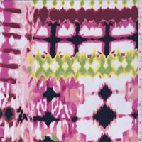 ITY Hot Pink Multi Blur Jersey Knit