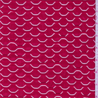Cherry Red/White Puckered Stretch Slinky
