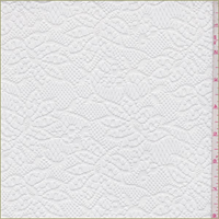 White Stylized Floral Polyester Lace